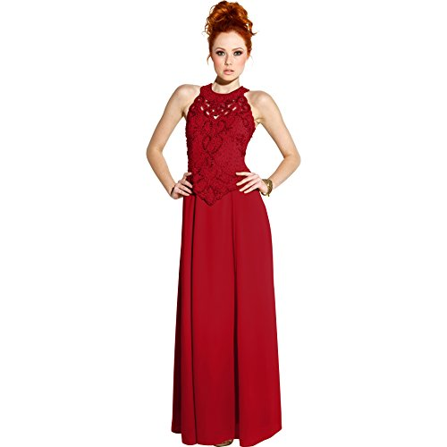 Mother Of The Bride Sleeveless Formal Wedding Gown MOB Dress, 4X, Red