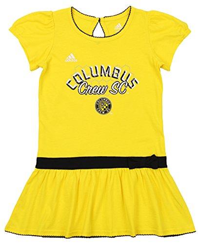 adidas MLS Girls Columbus Crew SC Floral Pitch Dress, Medium