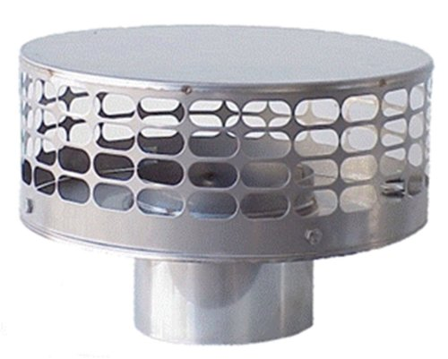 The Forever Cap CCFS8 8-Inch Stainless Steel Liner Top Chimney (Wall Chimney Pipe)