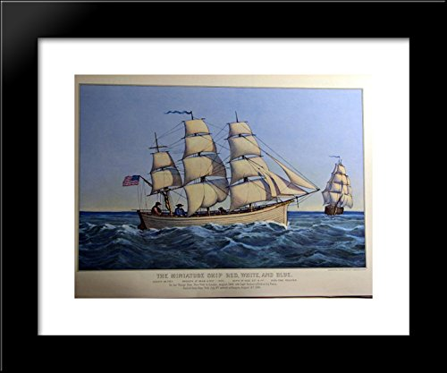 - The Miniature Ship Red, White, and Blue 20x24 Framed Art Print by Currier and Ives