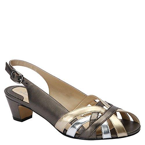 Ros Hommerson Women's PAM Metallic Dress Sandals 10.5 N