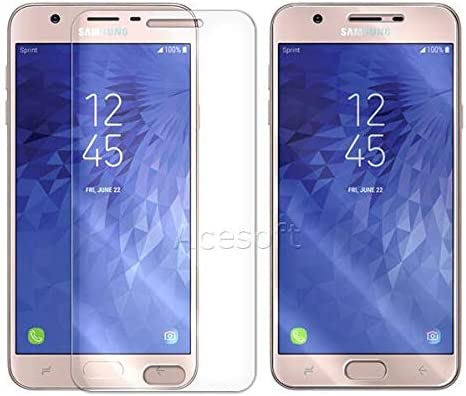 Clear New Full Coverage Ultra Thin Anti-Shatter Tempered Glass Screen Protector for Samsung Galaxy J7 SM-J737V Verizon 2018