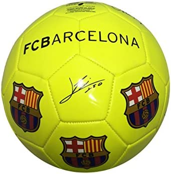Balón Pelota de fútbol FCB Barcelona con Firmas Jugadores Amarillo ...
