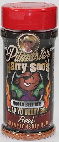 Pitmaster Harry Soos Slap Yo Daddy BBQ Rubs - ALL NEW (Beef Championship Rub - Moola Beef Rub, 6 oz)