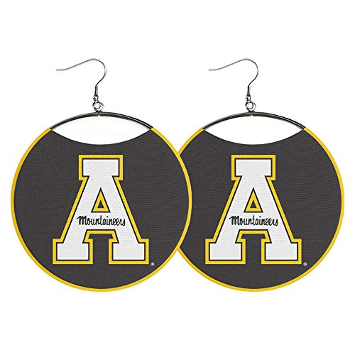 Appalachian State University Statement Earrings by Spirit Hoops, ASU