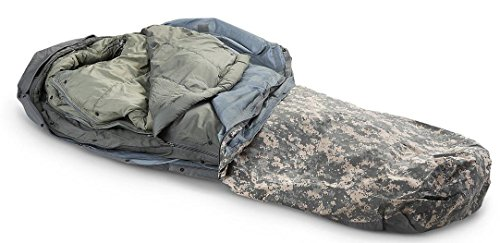Military Outdoor Clothing Previously Issued U.S. G.I. Improved ACU Digital Modular Sleeping Bag System 5-Piece