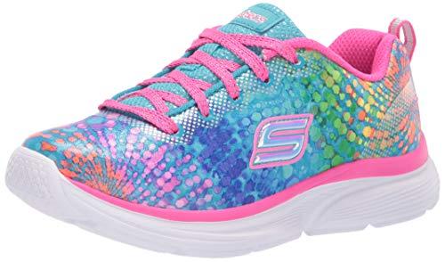 Skechers Kids Girls' Wavy Lites-Dazzle Sprints Sneaker, Multi, 13.5 Medium US Little -