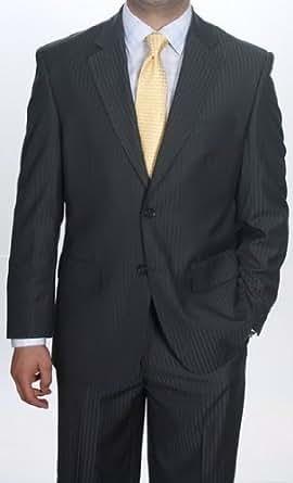 Classy Mens Blue Grey Three Button Suit (S-12-4) (48Regular)