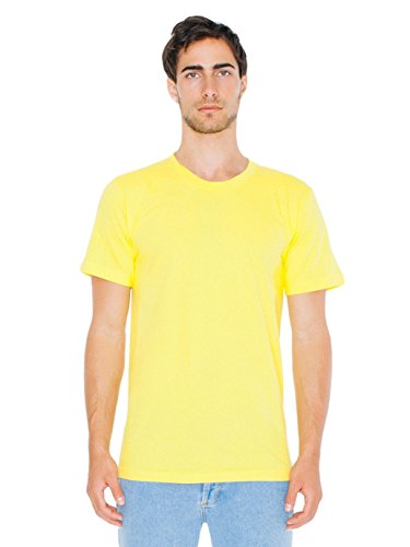 Bright Aqua Apparel - American Apparel  Unisex Fine Jersey Short Sleeve T-Shirt, Sunshine, Large
