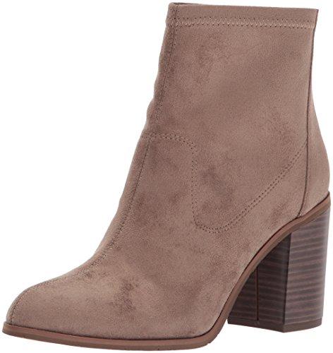 BC Footwear Women's Ringmaster Ankle Bootie, Dark Taupe Suede, 9 M (Dark Beige Footwear)