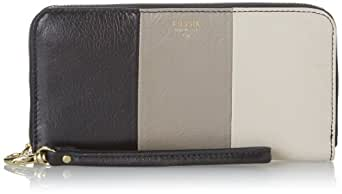 Fossil Sydney Patchwork Zip Clutch Wallet,Neutral Multi,One Size