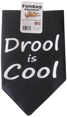 Fun Dog Bandanas Drool is Cool Bandana for Dogs, 22 by 22 by 31-Inch