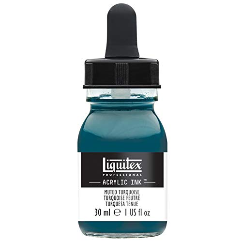 - Liquitex Special Release Collection Professional Acrylic Ink! 1-oz Jar - Muted Turquoise, 1 oz,