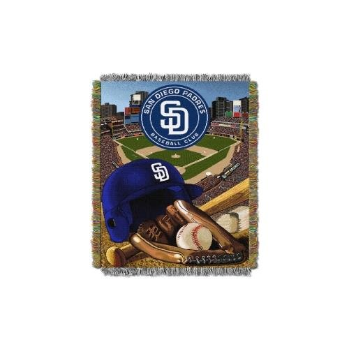 The Northwest Company MLB San Diego Padres Home Field Advantage Woven Tapestry Throw, 48