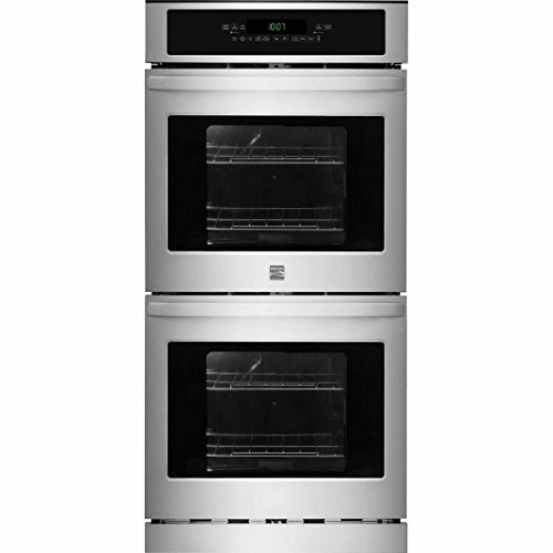 Kenmore 40253 24″ Electric Self-Clean Double Wall Oven, Stainless Steel