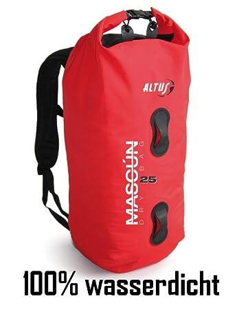 Altus Mascún - Mochila tipo rulo para bicicleta, 100% impermeable, 25 l, color rojo: Amazon.es: Deportes y aire libre