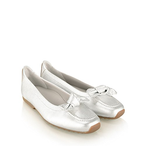 Kennel Bow Schmenger Silver 5 6 Slip Detail On Pump Women's Und Flat 6fAnx1w6ar