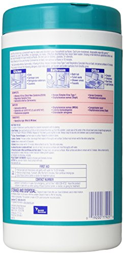 """019200779258 - LYSOL Brand 77925CT Ocean Fresh Scent Disinfecting Wipes, 7"""" x 8"""", White (Pack of 6) carousel main 3"""