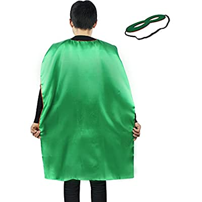 iROLEWIN Superhero Cape Adult Sized Costumes with Mask (110cm)