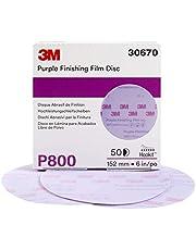 """3M 30670 Hookit Purple 6"""" P800 Grit Finishing Film Disc"""