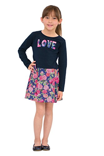 Girls Long Sleeve Floral Dress - 2