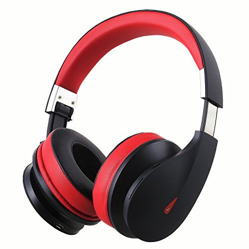 AUSDOM Wireless Bluetooth Headphones, On Ear Bluetooth Headsets with Built in CVC 6.0 Noise Isolation Microphone,Bass,CVC 6.0 for PC/Cell Phones/TV-AH2