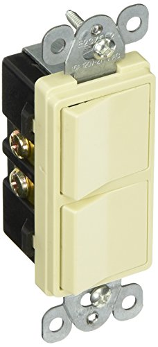 Morris 81980 Commercial Grade Decorative Double Rocker Switch, 15 Amp Current, 120V/277V, ()