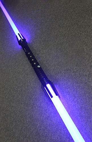Star Wars Spada laser a doppia testa spada laser con effetto sonoro spada laser flash doppio bordo spada giocattolo Blade75CM handle 45CM