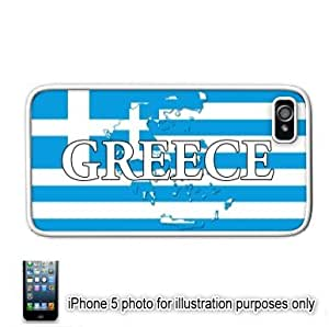 Greece Greek Shape Name Flag Apple iPhone 5 Hard Back Case Cover Skin White by mcsharks