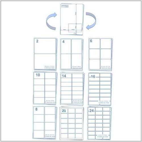 EJrange Adressetiketten 2 Labels, 100 Sheets