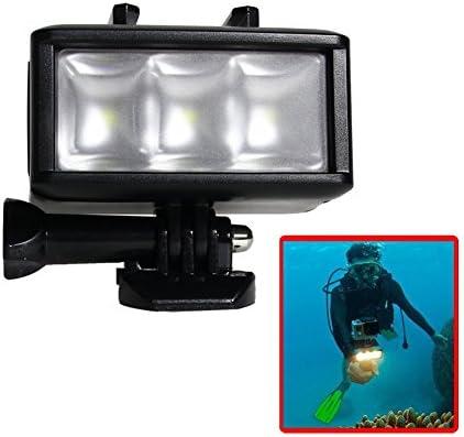 Waterproof Underwater 40M Diving LED Dimmable Light Mount Built-in 1200mAh Rechargeable Battery for Gopro Hero Yi SJ4000/SJ5000/Xiaomi 5/5S/4/4S/3+/3/2/SJCAM Action Camera