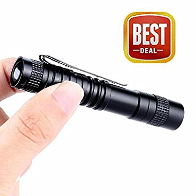 Mini Perman 1000 Lumens CREE XPE-R3 LED Flashlight Lamp Light Clip Torch Penlight AAA Battery
