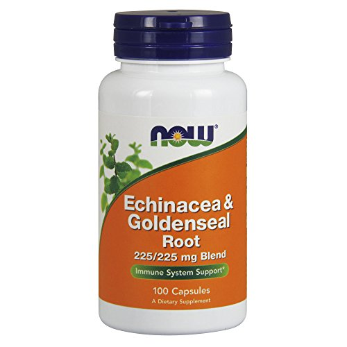 Echinacea Goldenseal Capsules - NOW Supplements, Echinacea & Goldenseal Root, 225/225 mg Blend, 100 Capsules