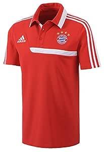 adidas FC Bayern Munich 2013-14 - Polo para hombre, color rojo ...