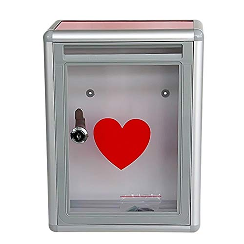 Mailbox - ABS Resin, Acrylic Aluminum Alloy With Lock Wall Hanging Small Suggestion Box Mail Box, Suitable For Villa, Courtyard, Family -21.5X10.5X28.5cm Outdoor ()
