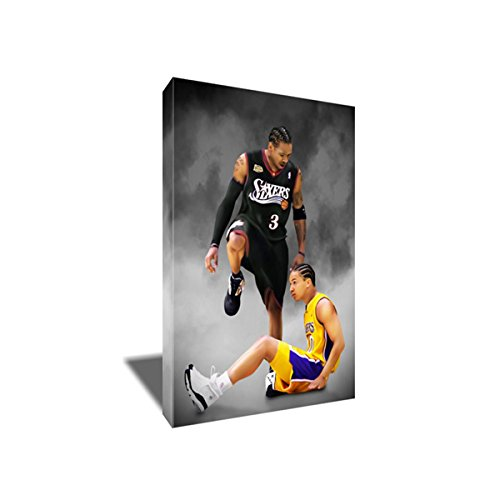 ALLEN IVERSON Steps Over Tyronn Lue Canvas Painting Poster Artwork on CANVAS ART print (8x12 inches)