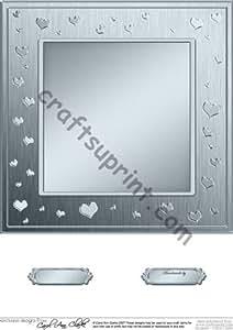 8 x 8 corazones románticos dekowunder tarjeta Base metálica por Carol Clarke