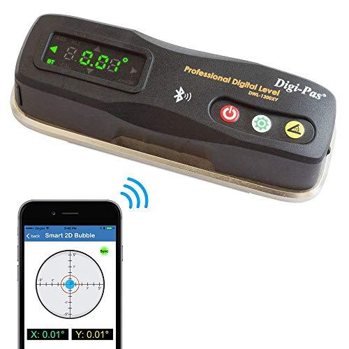Digi-Pas 2-Axis Smart Machinist Digital Level DWL1300XY Bluetooth 0.002