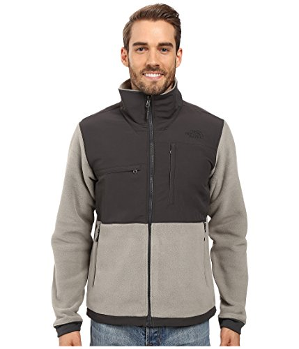 The North Face Mens Denali 2 Jacket Small Recycled Moon Mist Grey/Asphalt (The North Face Denali Mens)