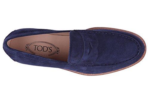 Tod's mocasines en ante hombres nuevo formale blu