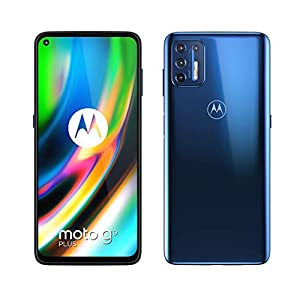 "Motorola moto g9 plus (Quad camera 64 MP, batteria 5000 mAH, Display Max Vision FHD+ 6.8"", Qualcomm Snapdragon 730G, Dual SIM, 4/128GB, Android 10), Navy Blue 18"