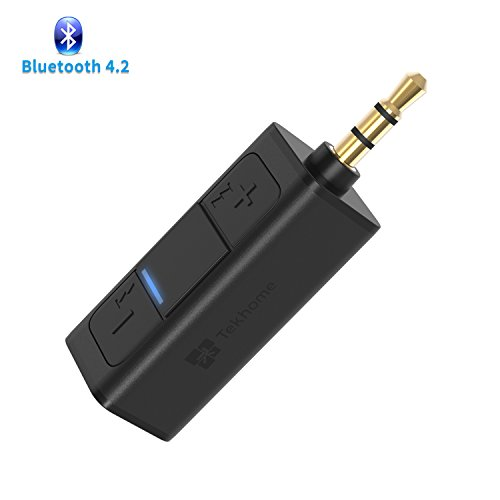 Bluetooth Aux Adapter 4.2, Bluetooth Auxiliary Adapter for Car, Bluetooth Adapter for Headphones, Aux Bluetooth, Mini Bluetooth Receiver for Car, Bluetooth Audio Connector, Bluetooth Converter for Car