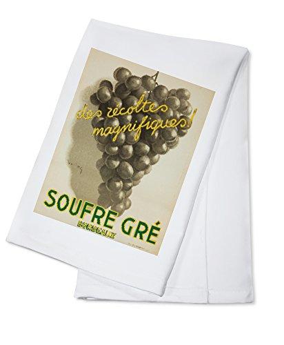Soufre Gre - Bordeaux Vintage Poster (artist: Dupin) France c. 1933 (100% Cotton Absorbent Kitchen Towel) (Bar Towel Bordeaux)