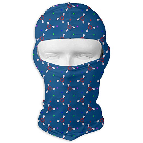 Ruin Blue Weird Graphic Balaclava Face Mask for Windproof UV Protective Hat for Cycling Motorcycle -