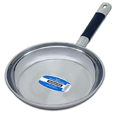 "10"" (25cm) 18/10 Tramontina Stainless Steel Saute / Frying Sauce Skillet Fry Pan"