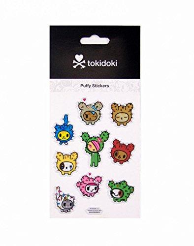Tokidoki Cactus Kitties Puffy Stickers Sheet