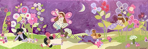 Oopsy daisy Slumbering Fairies Stretched Canvas Wall Art by