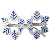 Novelty Glittered Christmas Decoration Fanci-Frames Party Accessory Blue Snowflake Eyeglasses
