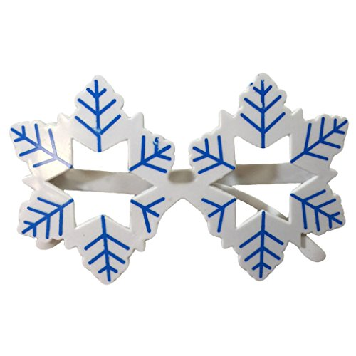 (Novelty Glittered Christmas Decoration Fanci-Frames Party Accessory Blue Snowflake Eyeglasses)