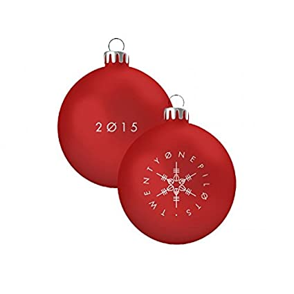 twenty one pilots 2015 holiday christmas ornament